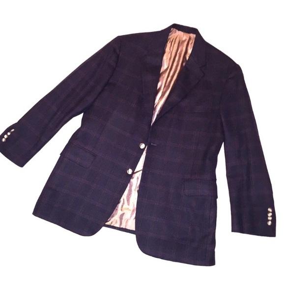 H Freeman Super Soft Wool Blazer - Midnight Blue